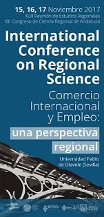 Ampliación del plazo para enviar papers hasta el 8 de octubre- XLIII Reunión de Estudios Regionales – Sevilla  15, 16 y 17 de noviembre de 2017
