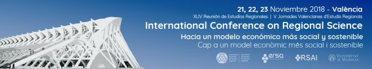 Call for papers a la XLIV Reunión de Estudios Regionales – València, 21-23 de noviembre de 2018