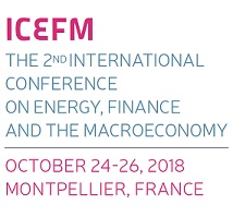 ICEFM The 2nd International Conference on energy, finance and the macroeconomy – October 24-26, 2018 – Montpellier, France