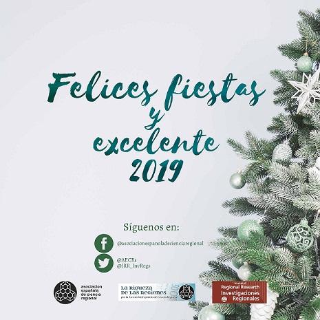 La AECR os desea muy FELICES NAVIDADES Y PRÓSPERO 2019