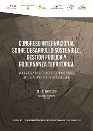 Congreso Internacional sobre desarrollo sostenible, gestión pública y gobernanza territorial – 28/31  mayo 2019 – Polonia