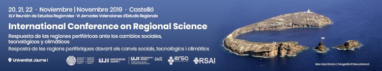 Sesiones Especiales de la XLV Reunión de Estudios Regionales – Castelló, 20-22 de noviembre de 2019