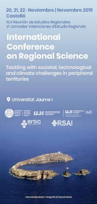 Ampliación plazo de presentación de resúmenes de  la XLV Reunión de Estudios Regionales y las VI Jornades Valencianes d'Estudis Regionals al 30 de mayo de 2019