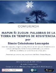 Dimecres 5 de juny de 2019 a les 12.30 h. l'ACCR coorganitza la conferència: Mapun ñi zugun: Palabras de la Tierra en Tiempos de Resistencia – UPF – Campus Ciutadella
