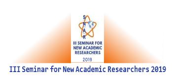 III Seminar for New Academic Researchers 2019 Faculty of Social Science, Cuenca University of Castilla-La Mancha  October 2019