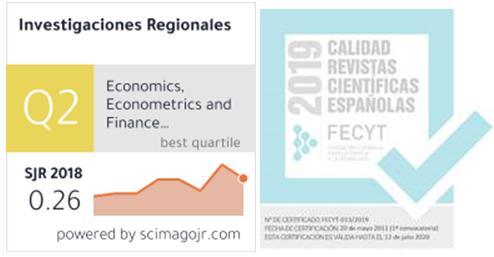 La revista Investigaciones Regionales, entre las revistas de calidad para la concesión de sexenios de investigación de la ANECA
