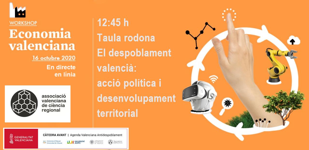 Resum del V Workshop d' Economía Valenciana: Taula rodona: El despoblament valencià: acció política i desenvolupament territorial